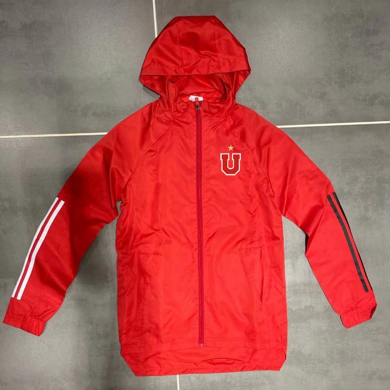 New 2020 Universidad de Chile mens veste coupe-vent à capuche de football manteau d'hiver pleine fermeture éclair de football Sweat à capuche Vestes d'homme