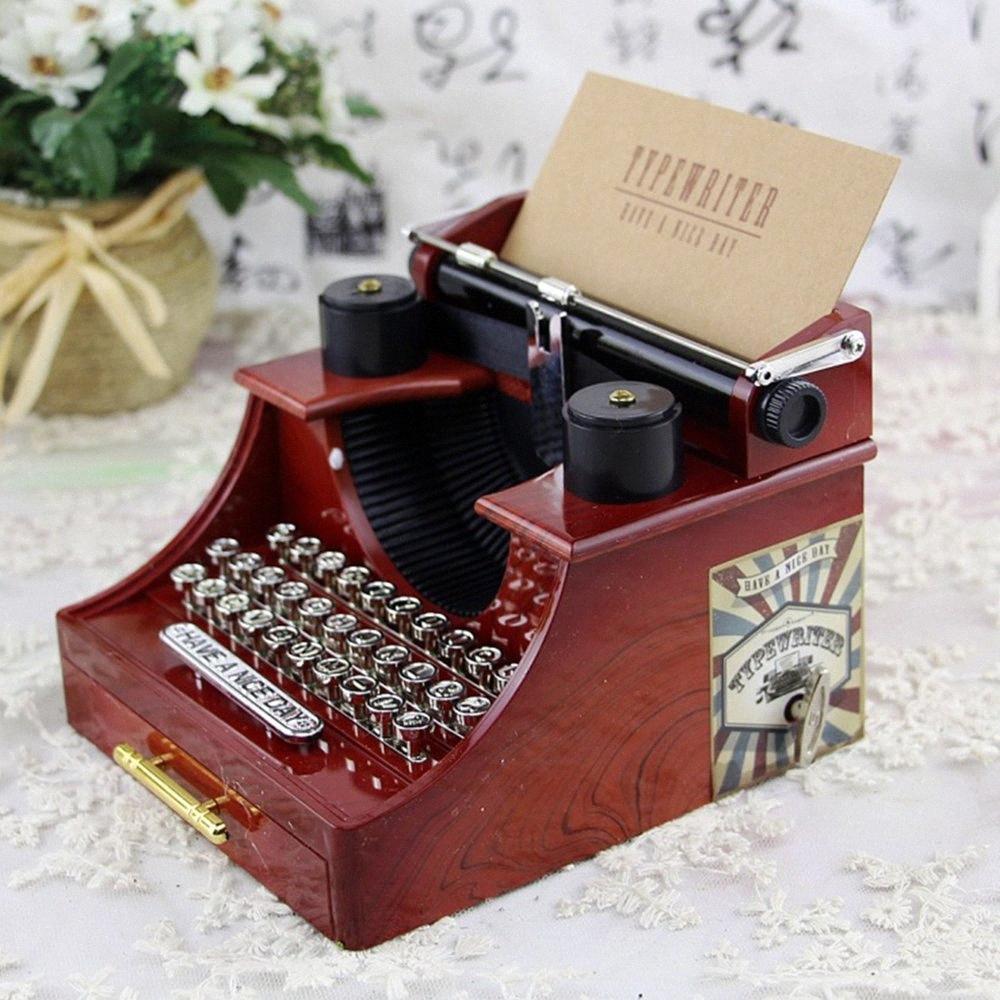 Music Box Romantische europäischer Art-Antike hölzerne mechanische Musik Box Klassische Boxen Dekoration Weihnachten Geburtstag Geschenk AaNz #