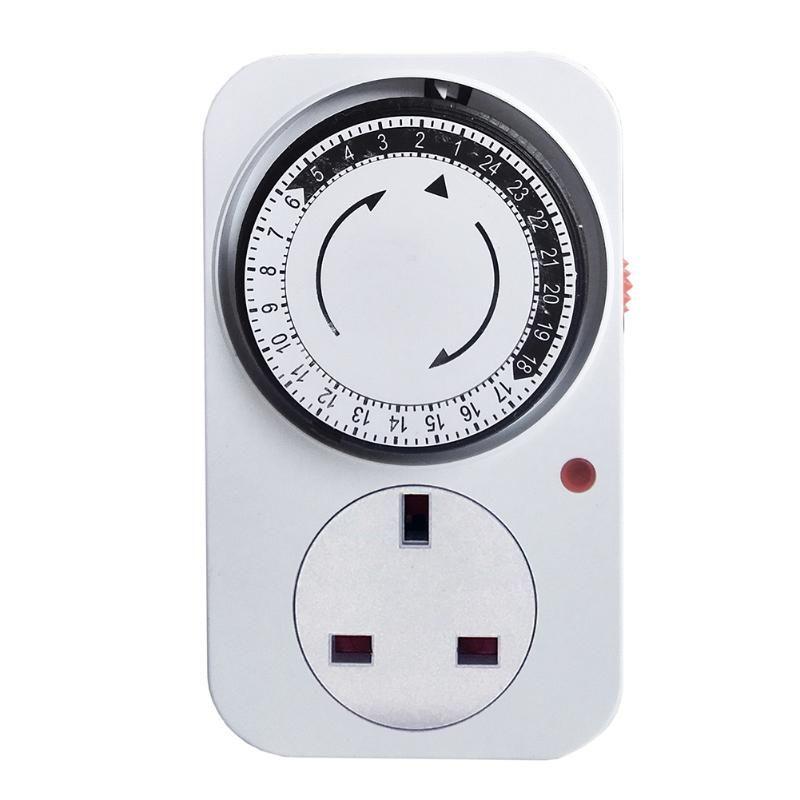 Timer Socket 24 ore elettrici Multi Tempo meccanico presa a muro interruttore digitale conto alla rovescia per il risparmio energetico Presa UE / USA / UK Plug