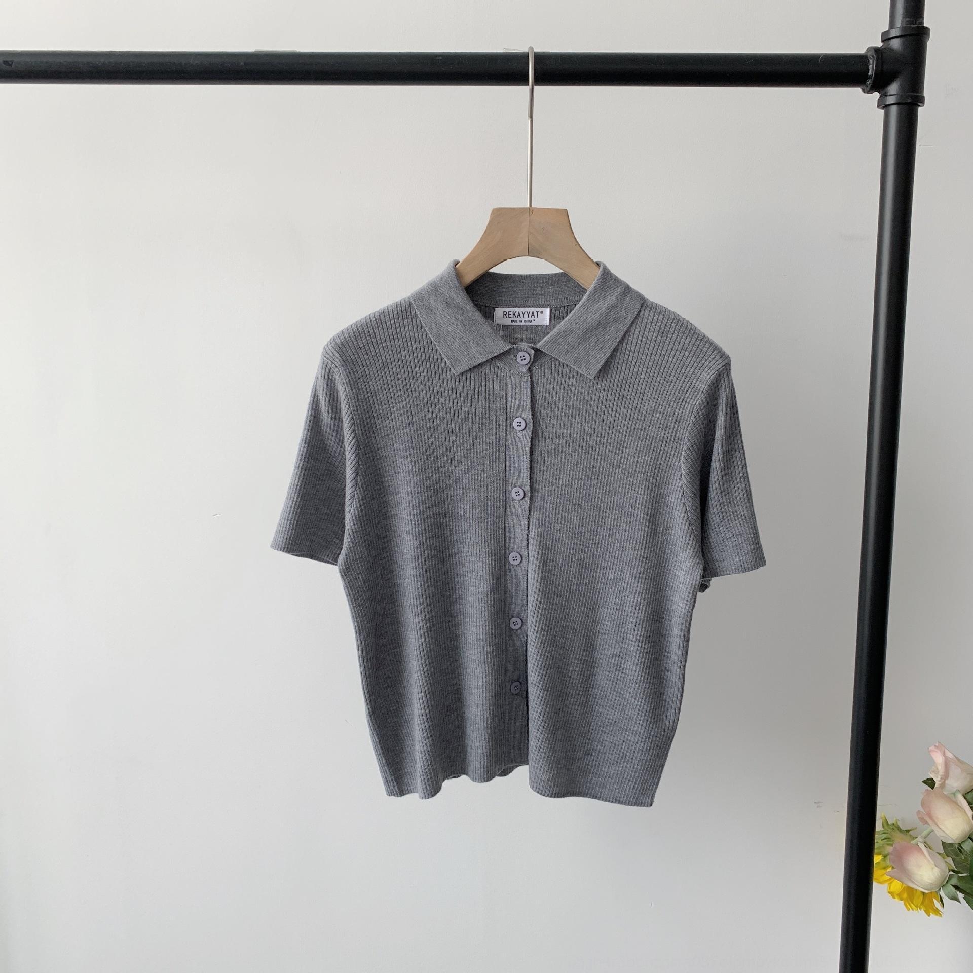 Fanyi 2020 verano ropa de la ropa solapa sólido ColorStyle edad reducir todo el fósforo que adelgaza ocasional linda linda de punto