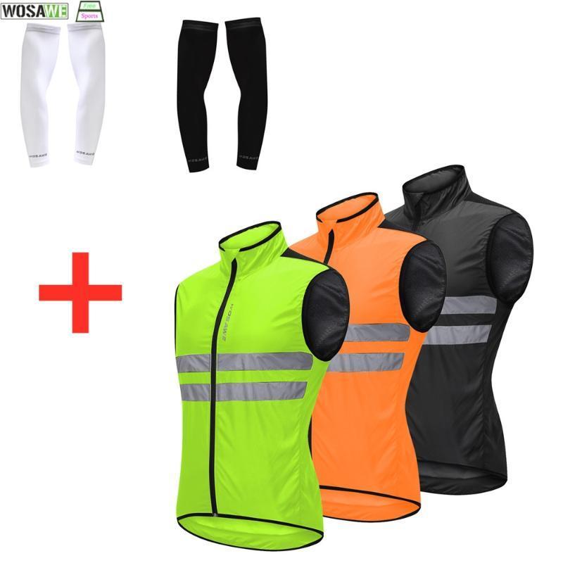WOSAWE Erkekler Kadın Güneş kremi Bisiklet Giyim Seti Nefes Kolsuz Yelek Güneş UV Koruma Kol Kollu MTB Ropa Ciclismo