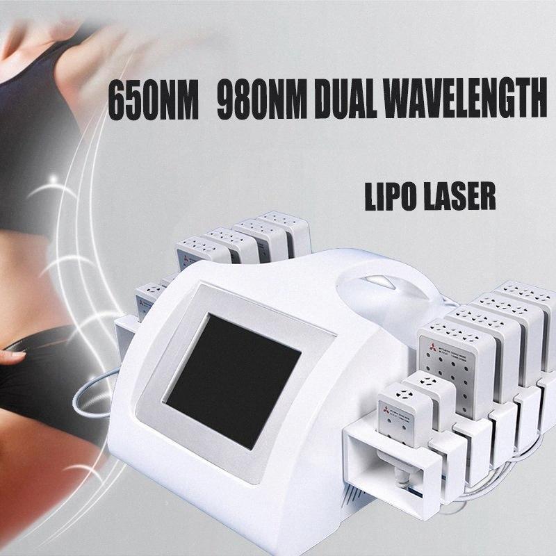 Nueva tecnología láser lipo terapia de láser frío eliminación de grasa máquina de liposucción lipo equipo de adelgazamiento de pérdida de peso corporal 6hSQ #