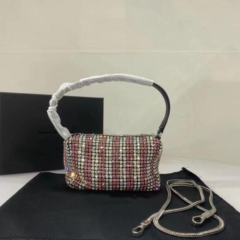 2020 womens de sacs à main de créateurs de luxe de haute qualité Diamant Brillant Petit carré Sac à main de soirée Mode