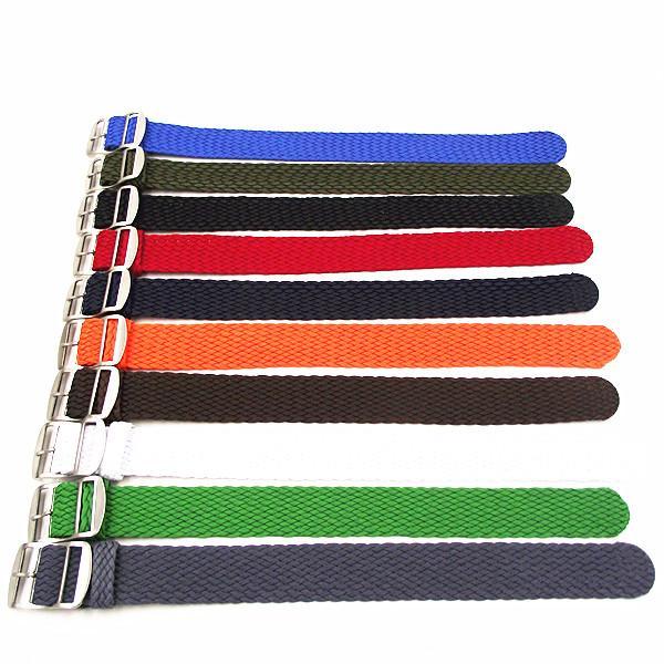 10PCS Atacado / cintas de nylon muito 22mm Perlon tiras weave relógio pulseira de relógio banda 10 cores disponíveis -PS0107