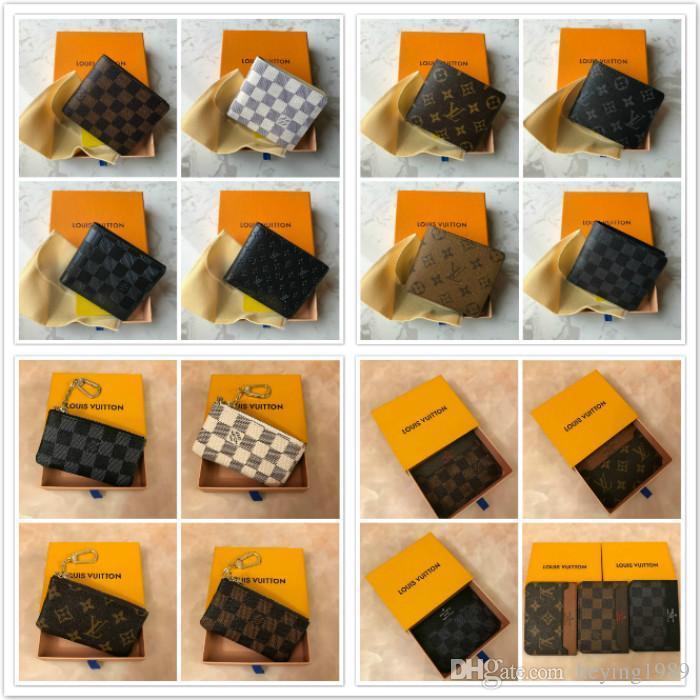 2018 Signora all'ingrosso multicolore caldo Nuova borsa della moneta del supporto del portafoglio breve carta colorata scatola originale Donne tasca classica codice della data a5