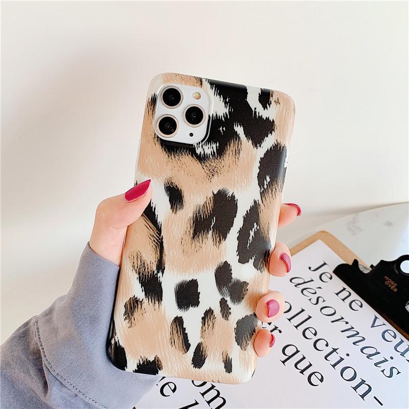 Case for iPhone 11 6 6s 7 8 200pcs texture leopardo Coppia Phone Pro Max XS X MAX XR più morbida copertura posteriore del silicone
