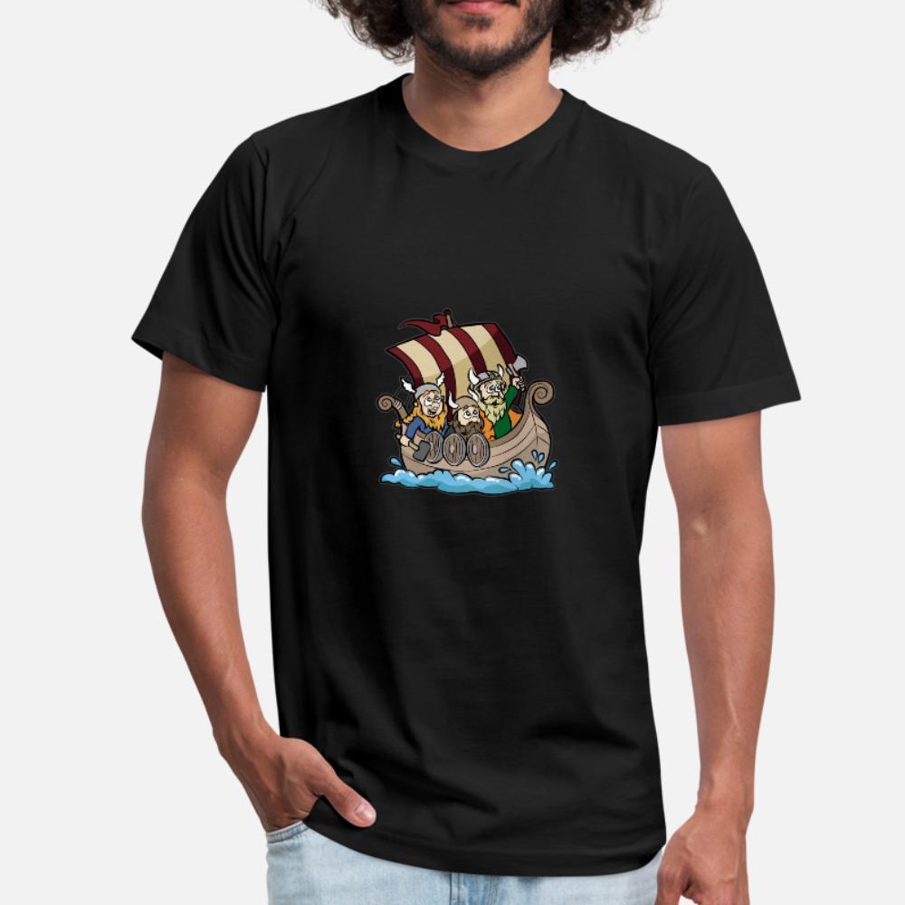 Vikings Em Viking Boat Longship Brute Berserk camiseta homens Personalizar camisa Padrão Casual Primavera 100% algodão S-3xl normal Famoso