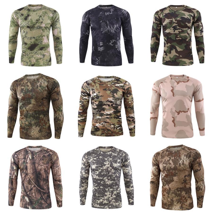 Mens Business Casual Designer maglietta della molla Slim manica lunga Tees modo maschio Top # 460