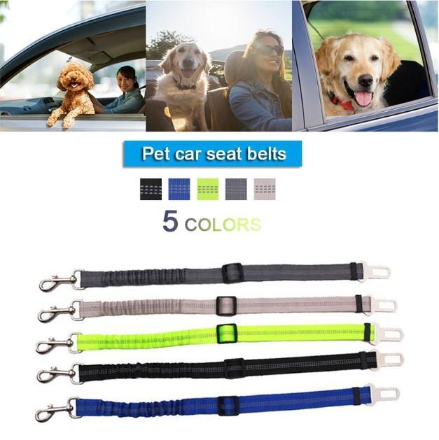 مستلزمات الحيوانات الأليفة الكلب مقعد سيارة مركبة كلب بيتبول حزام جرو مقعد السيارة حزام الأمان ليفر تسخير الرصاص كليب الجر المنتجات