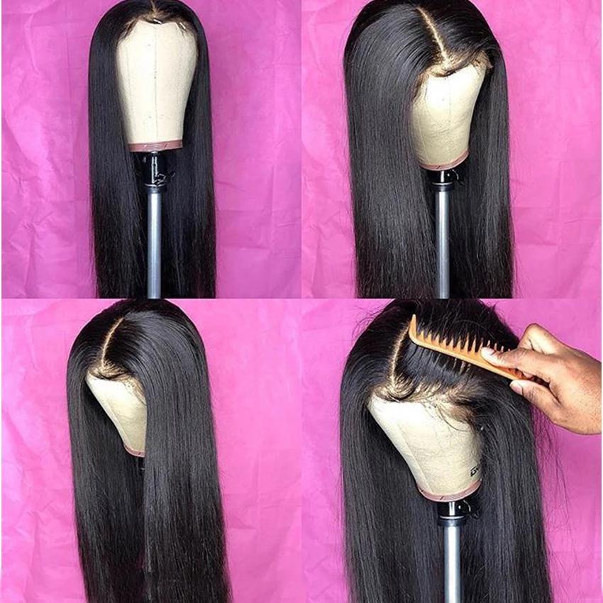 2020 brasilianische Haarperücken gerade Spitze-Frontperücke 13x4 Spitze Frontseiten-Menschenhaarperücken für schwarze Frauen nicht-Remy billig Menschenhaarperücken