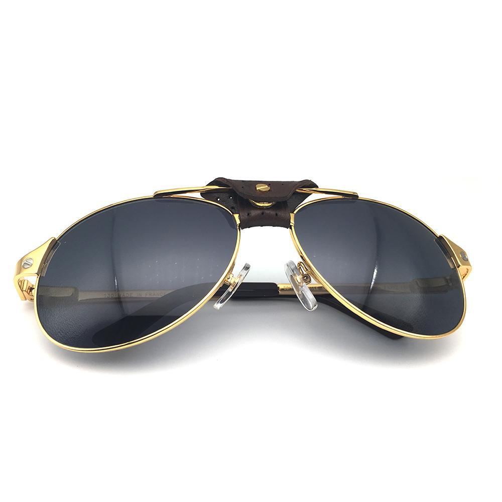 Gafas de sol retro gafas de sol de los hombres piloto Carter Lentes Santos Sombras Mujeres Moda Gafas Gafas de lujo retro de Navidad 554