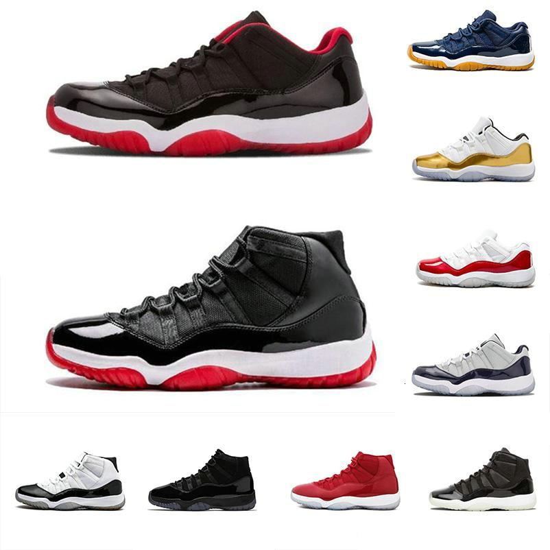avec la boîte 11 Metallic Silver 2019 Bred Gym Rouge Chicago Marine Midnight Basketball Chaussures Hommes 11s Wmns Sport Athletic Trainers Chaussures Discount
