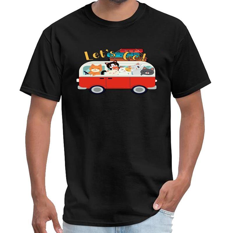 Yazdırma aile gezisi seyahat kedi araba kawaii anime gömlek ofis tv serie t gömlek erkek unisex t gömlek s-6XL hiphop top