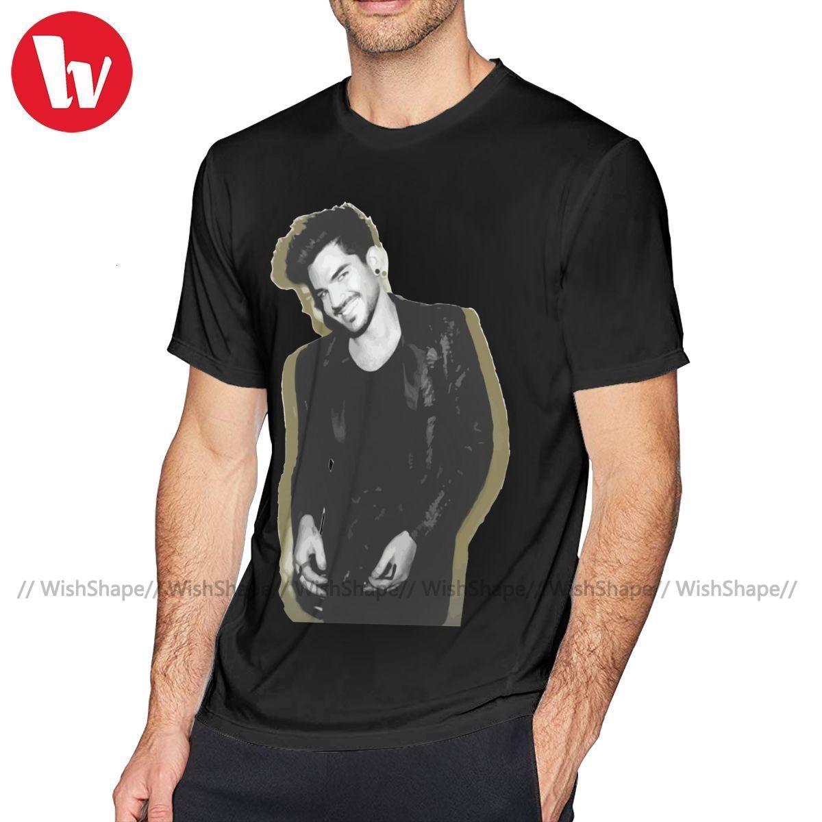Adam Lambert-T-Shirt Adam Lambert Merch Tour-T-Shirt Cute Cotton T-Shirt 6xl grundlegende Männer Kurzarm-T-Shirt