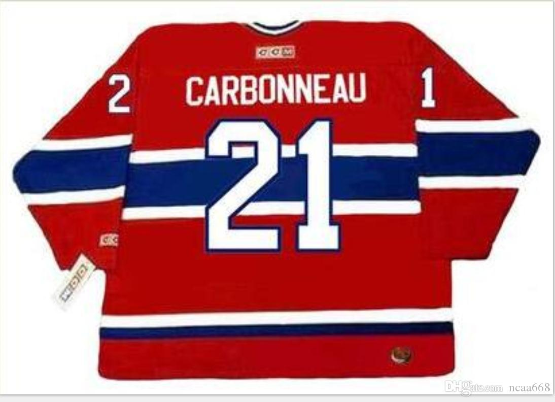 Custom Men Youth women Vintage #21 GUY CARBONNEAU Montreal Canadiens 1993 CCM Hockey Jersey Size S-5XL or custom any name or number
