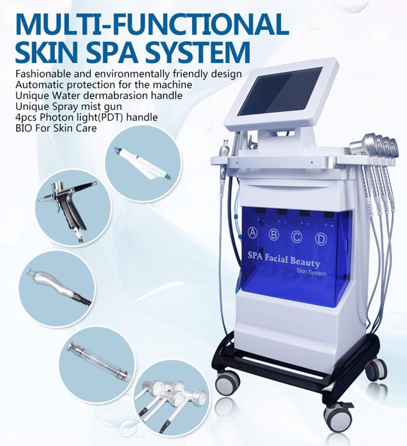 Hydrafacial Hydro Microdermabrasion Ultrasonic Skin Care Rejuvenation Beauty Equipmnent BIO RF Lifting Dermabrasion Diamond Skin Peeling