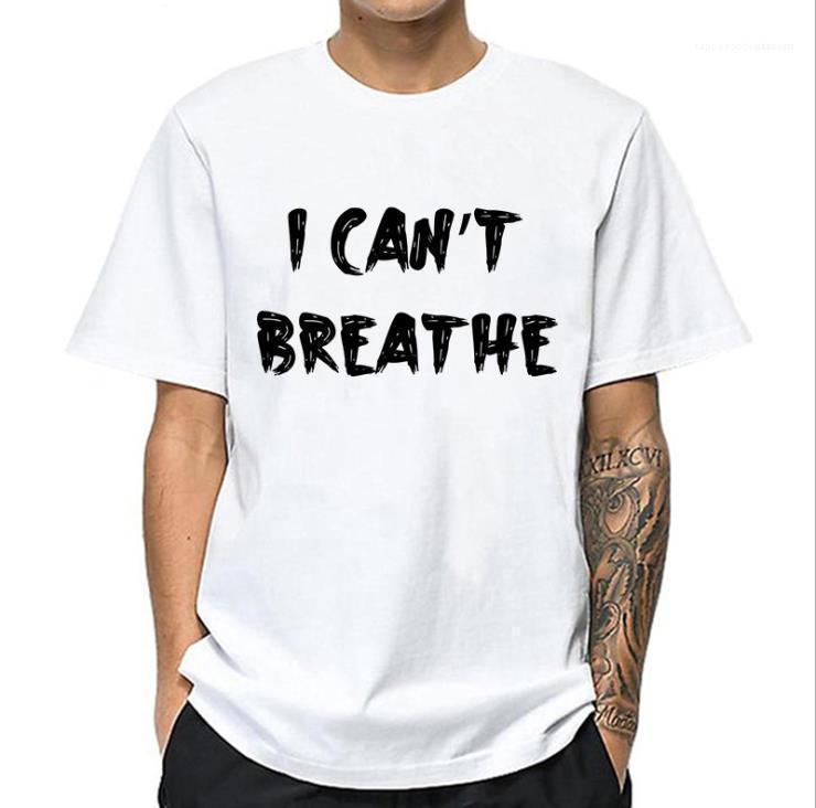 Erkek Harf CANT BREATNE Tshirts Man Tasarımcı High Street Yaz tişört O-boyun İnsan Haklar Tees Erkekler Kısa Kol Moda Tops