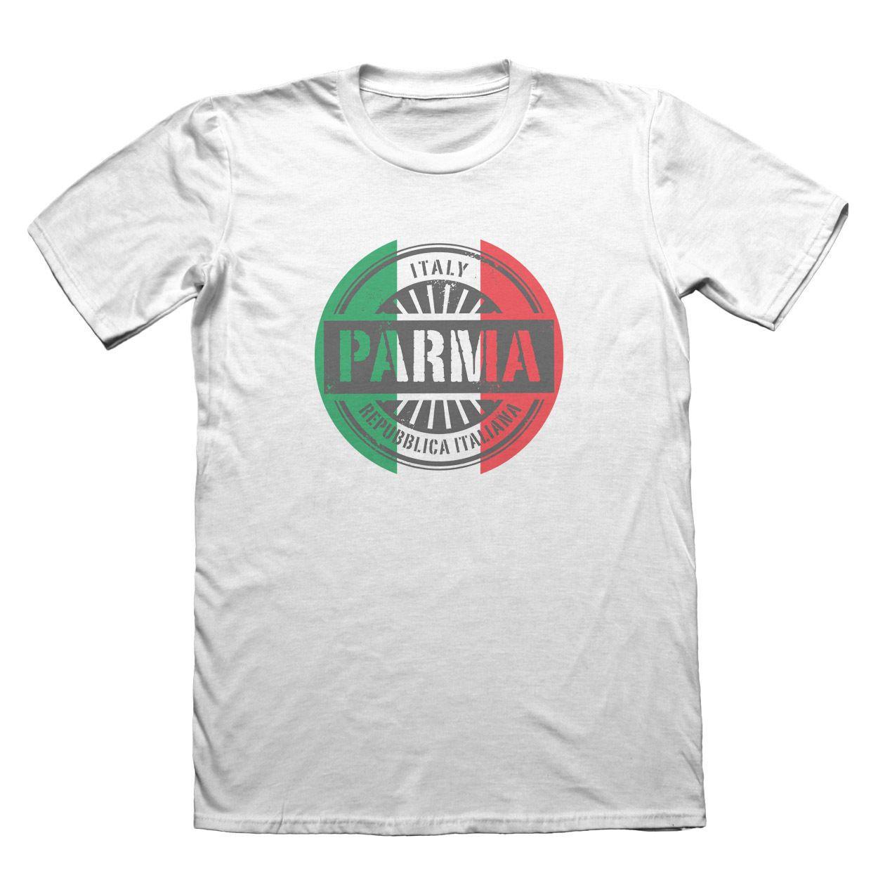 2019 Verão Camiseta O-Neck Moda Casual alta qualidade Itália Parmat shirt