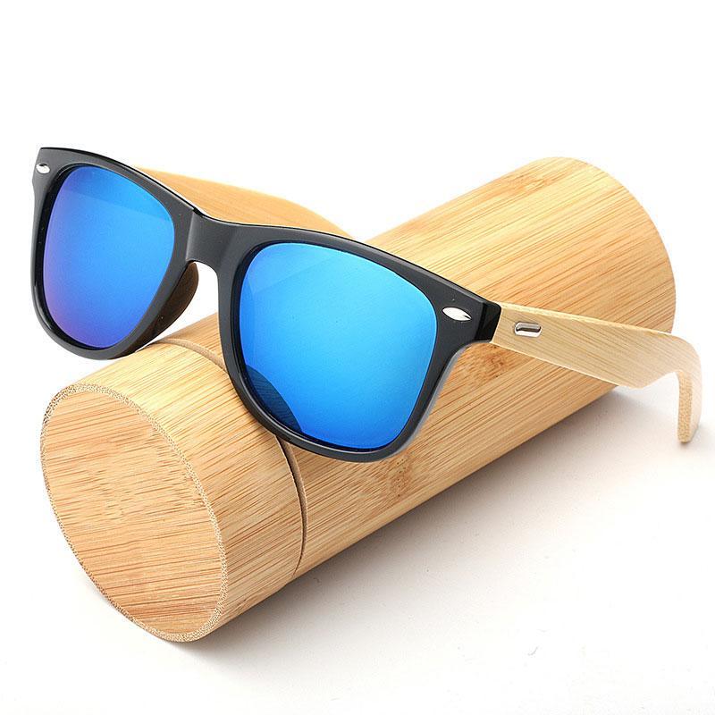 الخشب نظارات شمس رجل إمرأة النساء الخيزران مربع للنساء الرجال مرآة الشمس نظارات كبيرة الحجم الرجعية دي سول ذكر للالمصنوعة يدويا