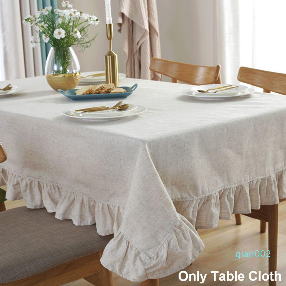 Pano de tabela decorativa Hotel Modern Sala de jantar retangular estilo Europeu Covers Sólidos Elegante Algodão Cozinha linho