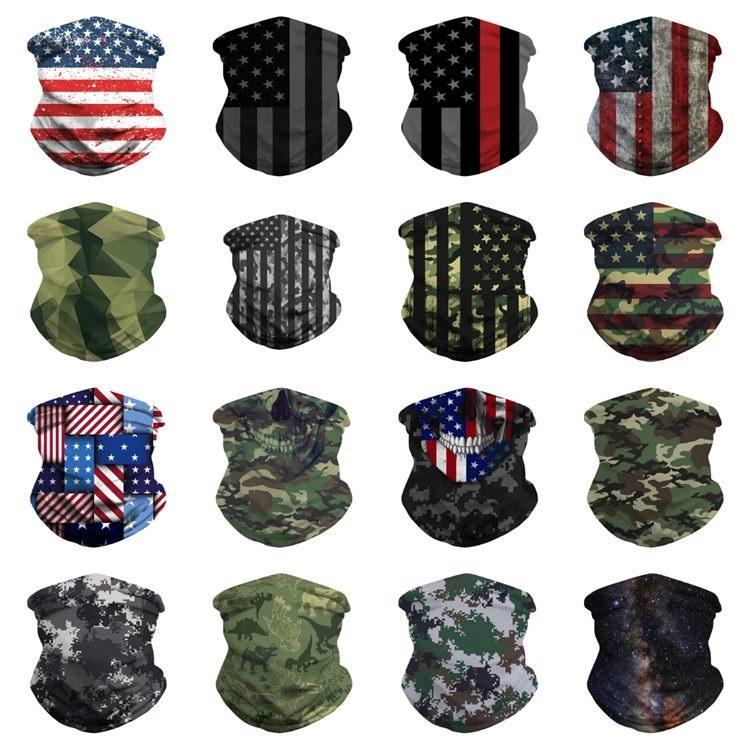 Drapeau d'impression designer Foulards 3D American Magic multifonctionnels Masque Maskst2i51363 équitation Turban Camouflage Headwear Nouvelle Magic HDHT