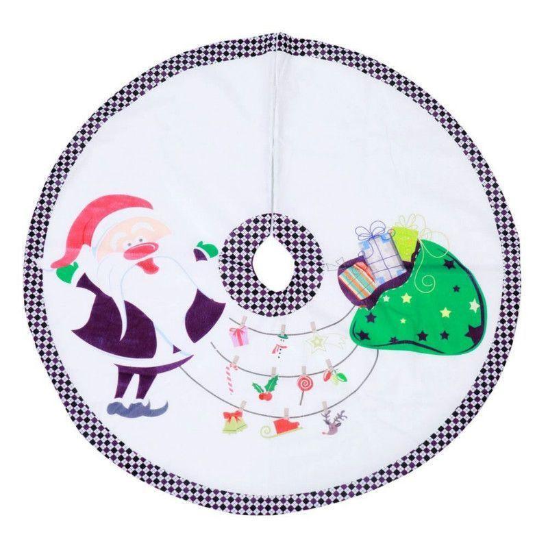 Nouveau 90cm Arbre Jupe Durable pratique Arbre de base Arbre Chic Creative Décoration de Noël Décoration pour fêtes de Noël Fournitures