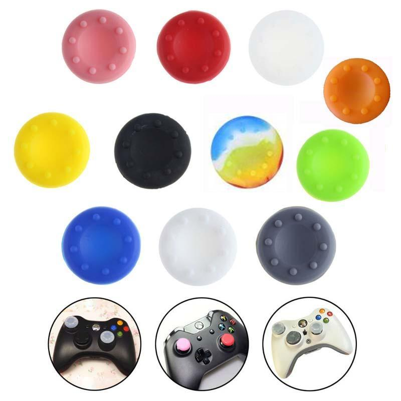 Cgjxs Silicone Controller Analog Grips Ps4 Thumbsticks Caps For Ps3 /Xbox 360 /Xbox One Joystick Cap Accessories Replacement