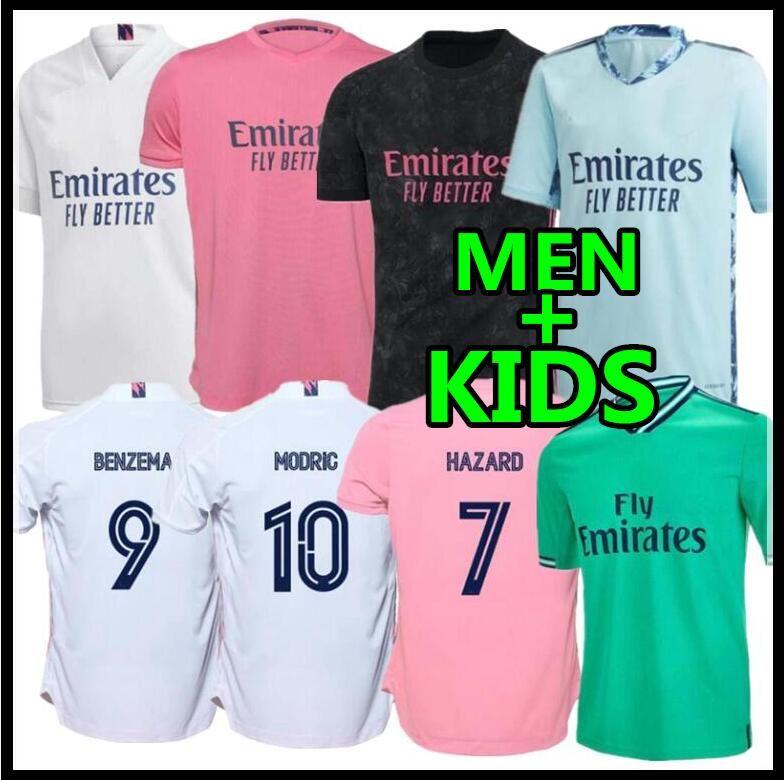 20 21 Real Madrid Soccer Jersey HAZARD home away adult soccer shirt ASENSIO ISCO MARCELO madrid 2020 2021 kids kit Football uniforms