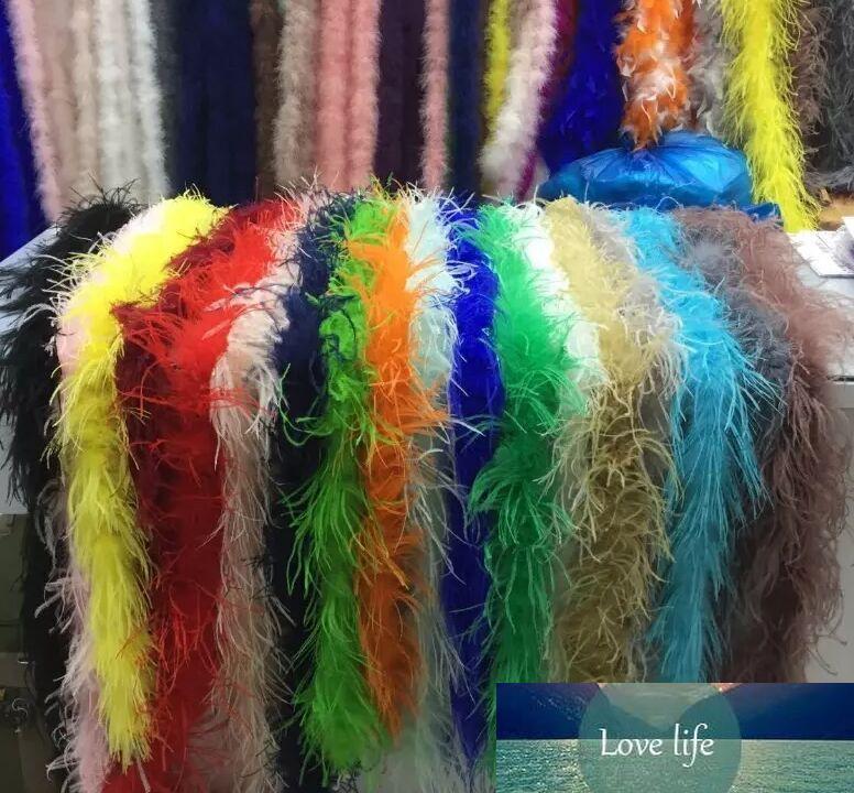 Дешевые перо Боас 2M Марабу Боа Strip для венчания Марабу Боа шарф много цветов быстрой перевозки груза