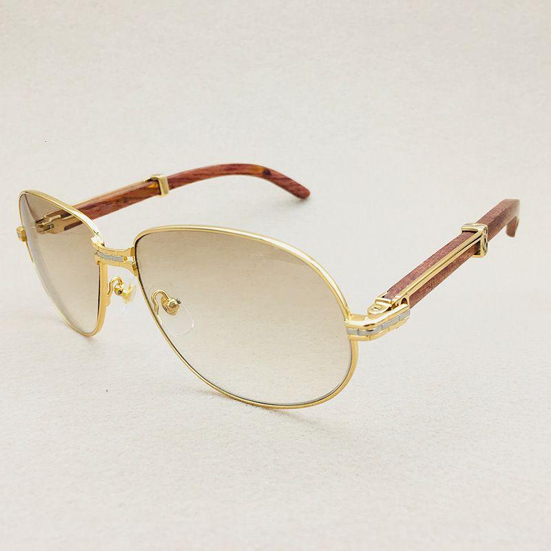 gafas de sol de los hombres de la vendimia de lujo para hombre de las gafas de sol de madera diseñador de la marca Carter marco de los vidrios de cristal transparente de gafas de sol de gran tamaño