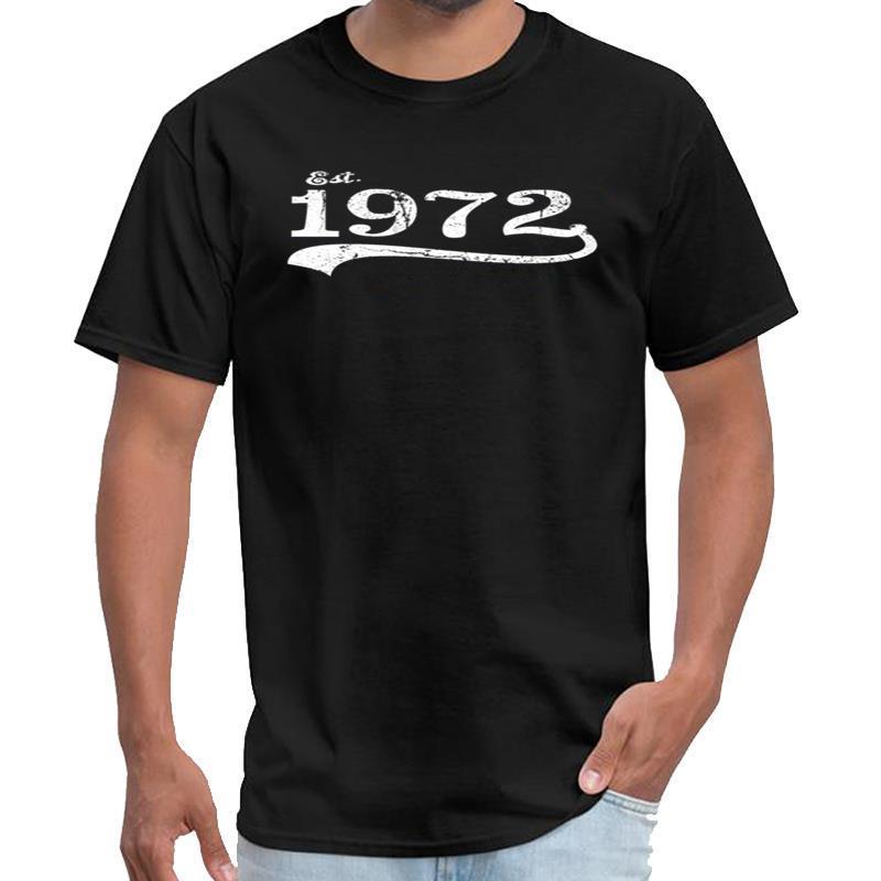 Personalizzato Est. 1972 Vintage maglietta vaporwave maschile femminile della camicia maglietta grandi dimensioni s top tee ~ 5xL