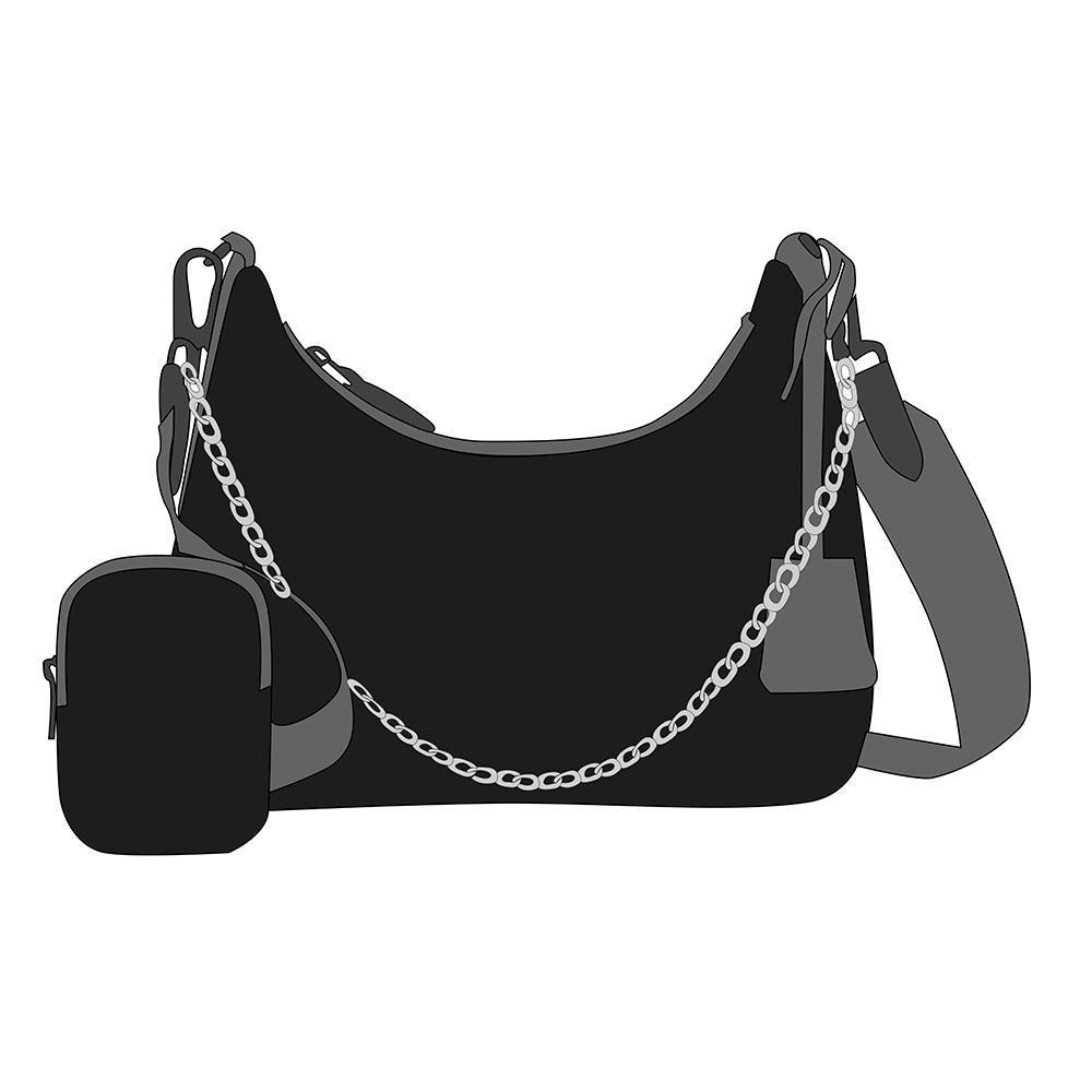 2021 sac à bandoulière en trois pièces pour femmes Big Design Fashion Classic Haute Qualité Toile Porte-monnaie