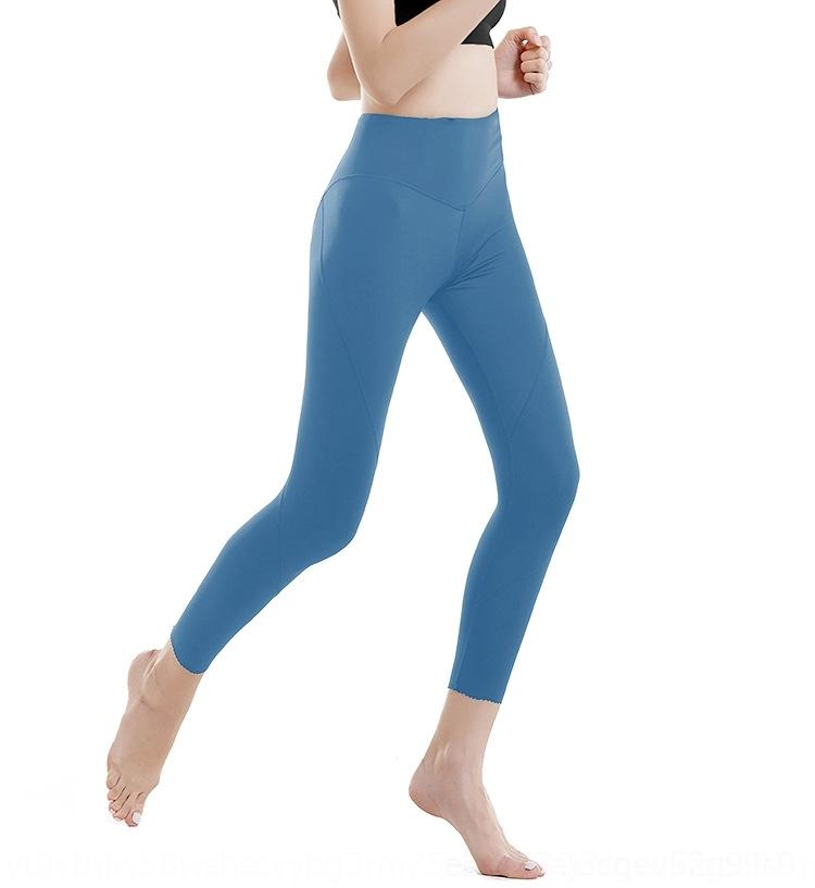 pantalon nu de nylon sans couture 2019 fitness yoga double face nouveau pantalon de yoga de sport de la hanche de pêche serré zhRT7