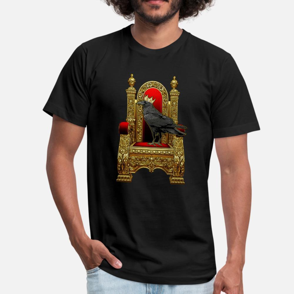 Raven Kral gömlek erkek Örme tişört O Boyun tuvaleti sevimli Comical İlkbahar Sonbahar Vintaj gömlek