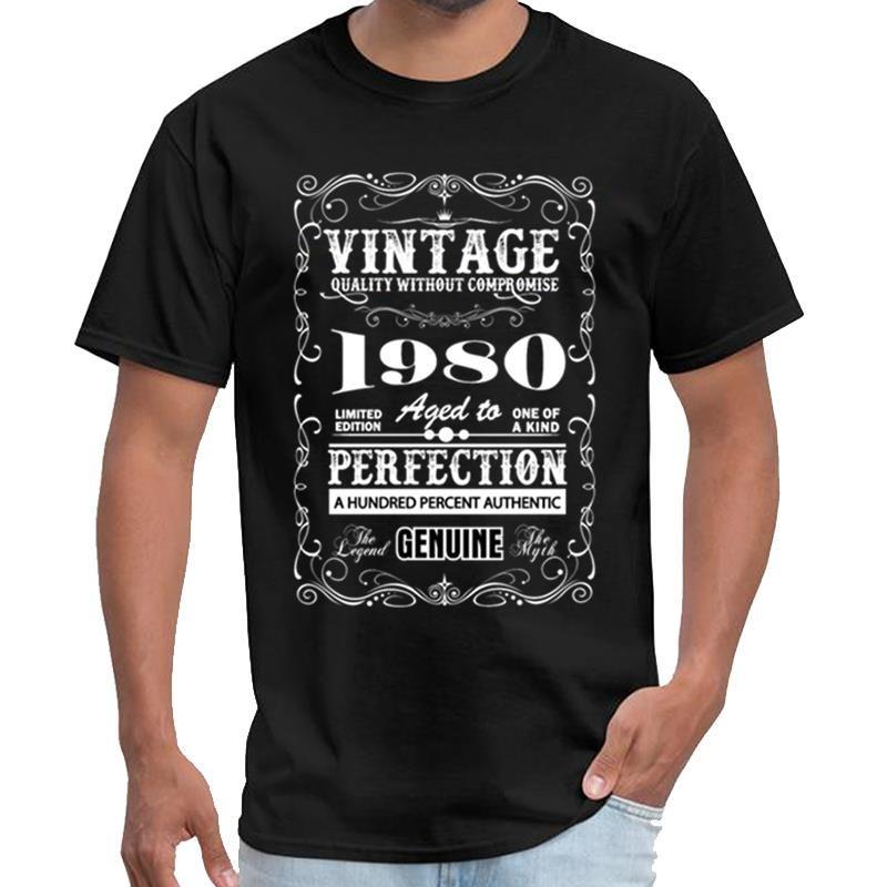 Vintage premium personalizado 1980 envejecido a la perfección la camiseta mens niño mandaloriana t travis camiseta más el tamaño de s-5XL lema