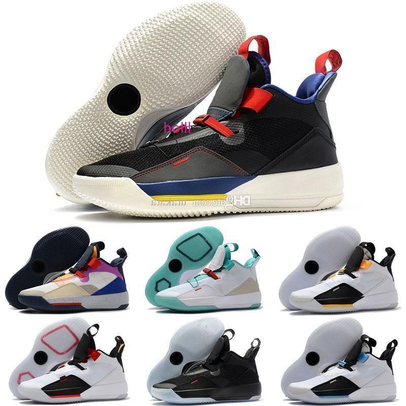 boxBrand с 33 Tech обновления будущего полета обувь Баскетбол для мужчин предпродажной 33s XXXIII Го Ailun Китай Джейд Colorway Дым Серый Белый