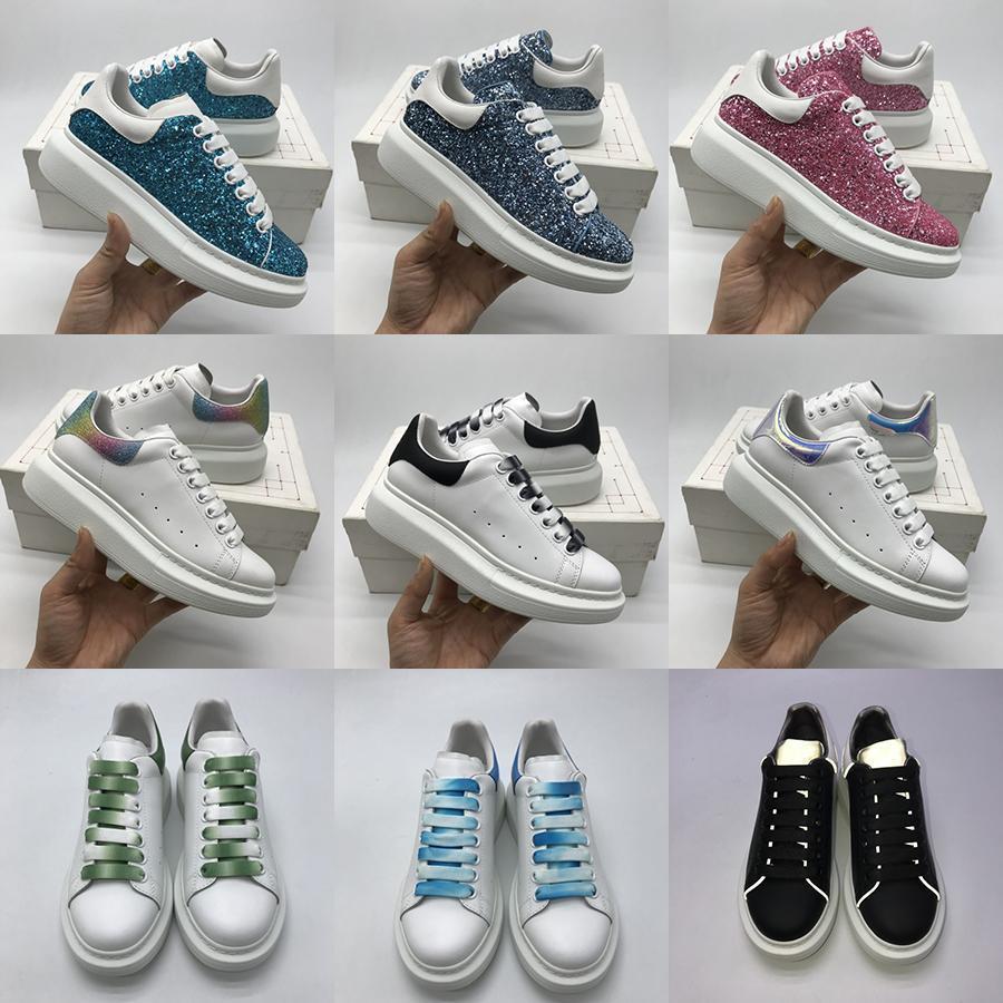 McQueen Лучшие мужчины и женщины молодежи Повседневная обувь Мода Flat Bottom Увеличение слайдов Пара Баскетбол обувь Открытый тренер кроссовки Сапоги