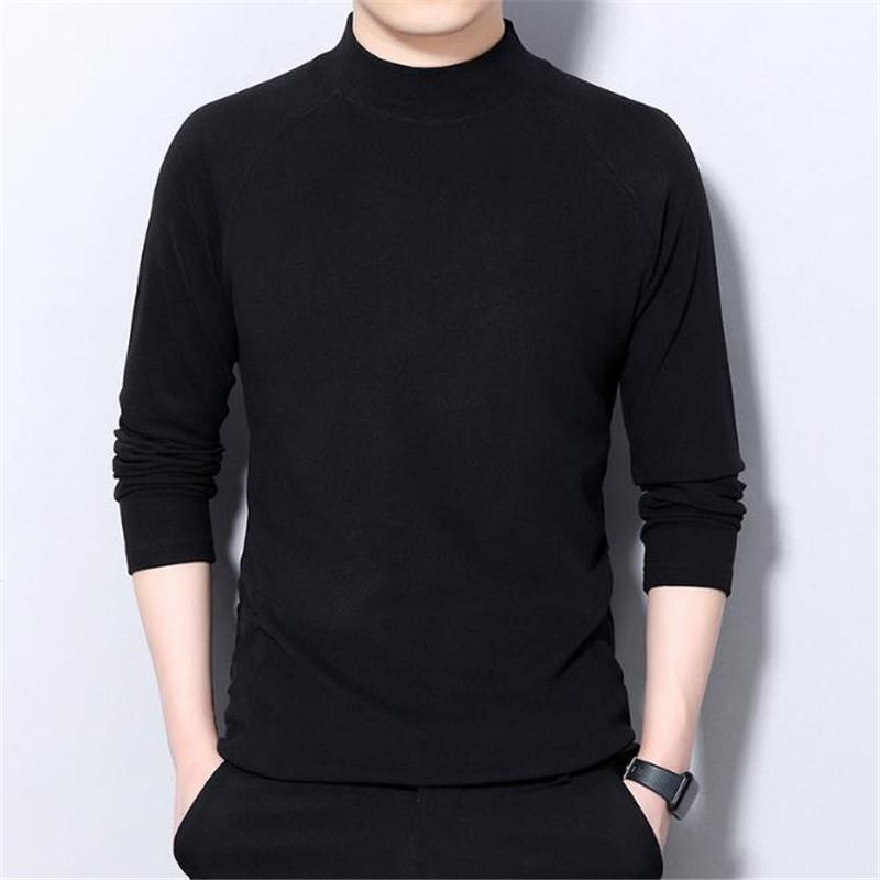 Designers New Shirts Sleeve Solid Mens Autumn 2020 T Color Long Sweatshirt Knitted Casual Men Tops Clothing Cfdec