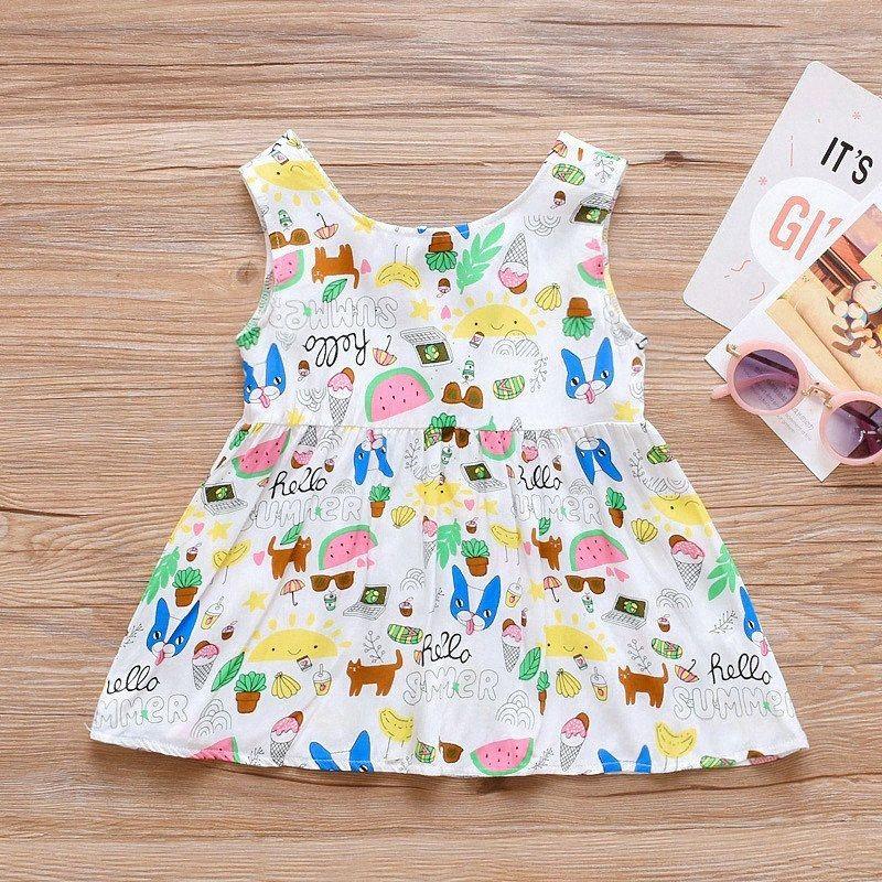 Детские Девушки печати цветка платья малышей рукавов платье принцессы Дети шарика партии Pageant платье малышей Outfit Robe Fille iM54 #