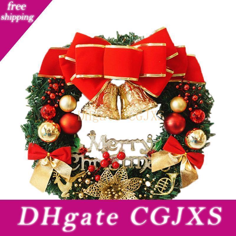 Weihnachtskranz Neujahr Weihnachtsdekorationen für Haus Tür und Fensterdekoration Luxus Frohe Weihnachten Partei Mma2990 -2