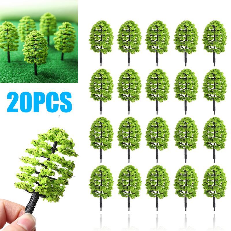20pcs Plastic Trees Model Artificial Scenery DIY Craft Miniature Building Park Landscape Party Decor Accessories