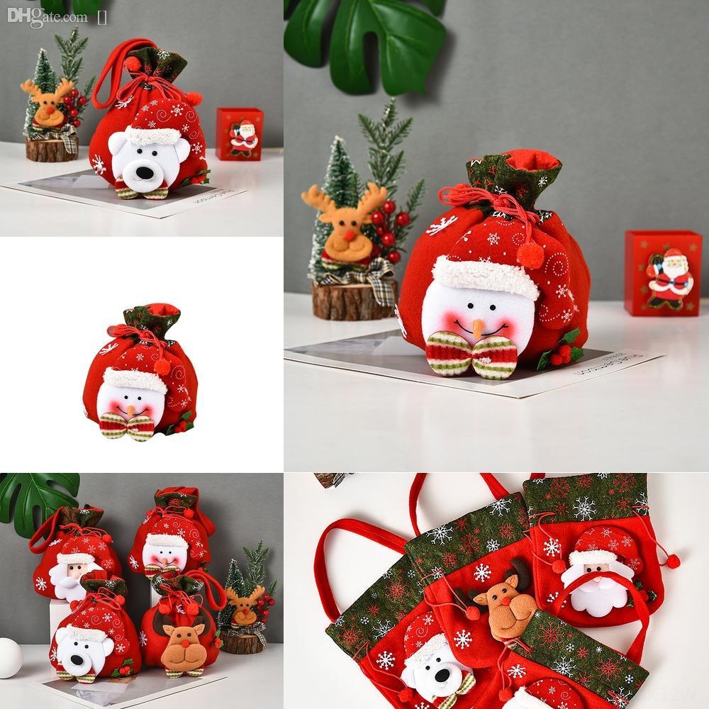 UP7fL Bags Latticed Gift Christmas Large Size Wrap Candy Bag Xams Tree Decoration Socks Ornament Christmas Gift Stocking FWB