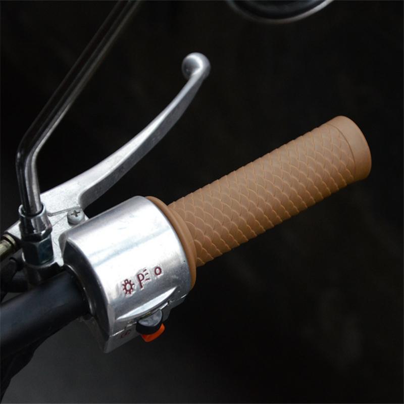 Evrensel Vintage Kauçuk Motosiklet Tutma Kolu Cafe Motosiklet Gidon Sapları İçin Moto Scooter Aksesuar