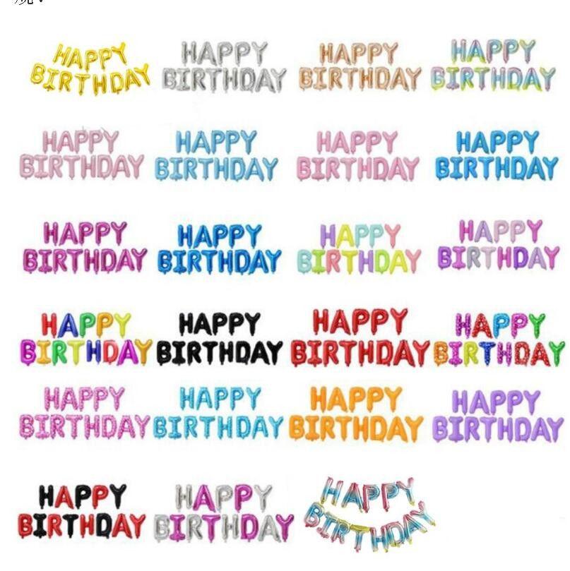 Helio globo feliz cumpleaños alfabeto globos conjunto niños fiesta de cumpleaños decorativo decorativos decoraciones de boda suministros lsk809