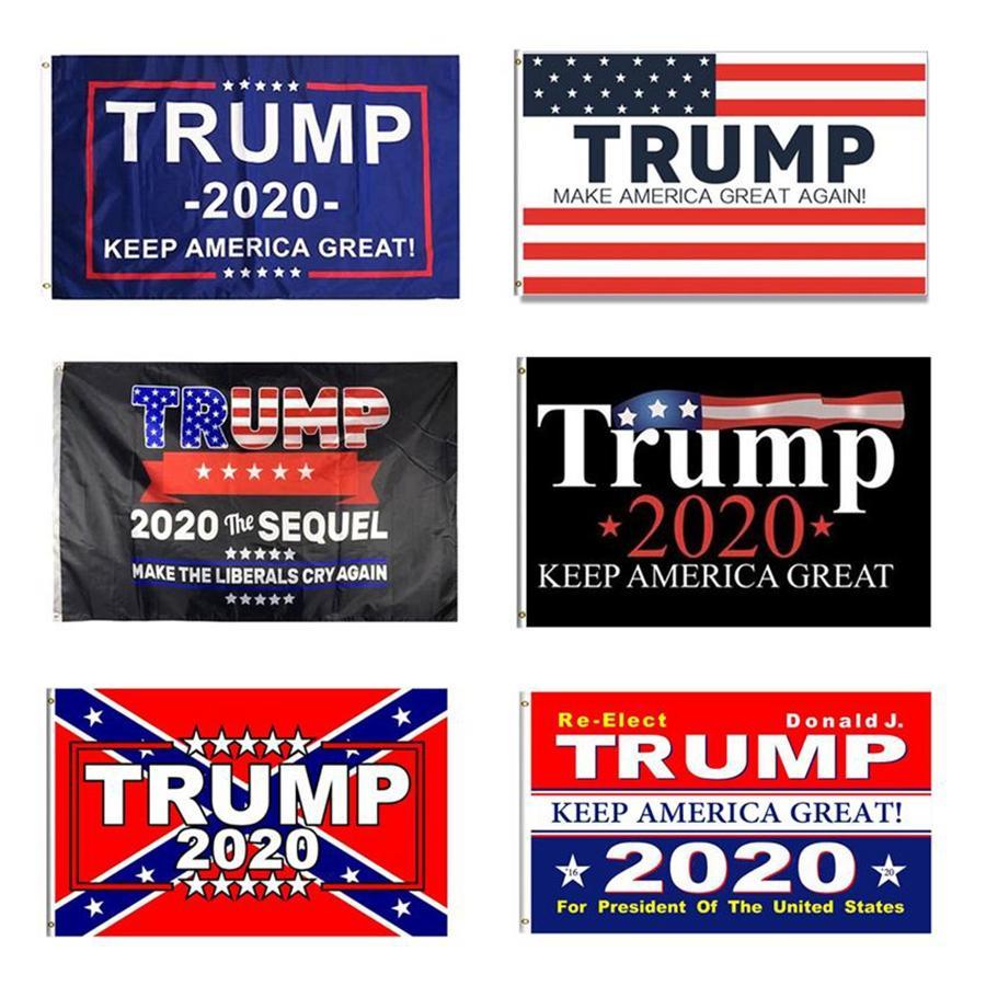 Trump 2020 Флаг 90 * 150см Keep America Great Президентские выборы Баннер Отпечатано Trump Полиэстер Флаг Баннер Морские перевозки DDA449