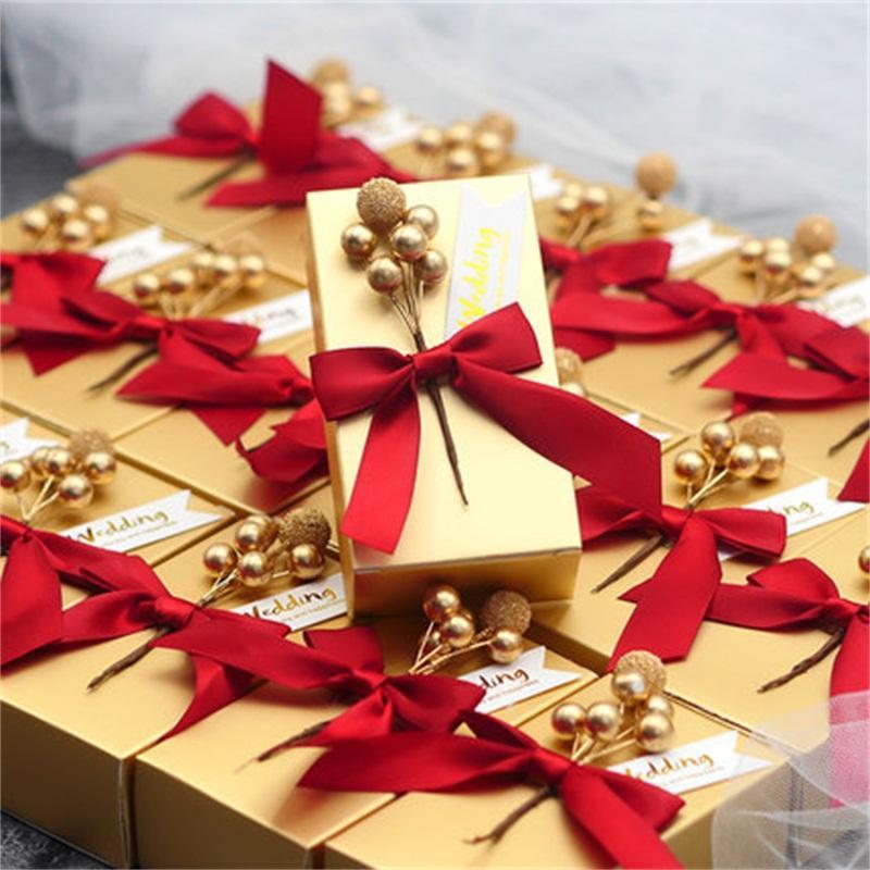 Azúcar caja Marry los artículos de venta Creative New Cuadrado Tipo de encapsulado Europea recuerdo de la boda de oro directo de fábrica de cartón 1 6kx2 p1