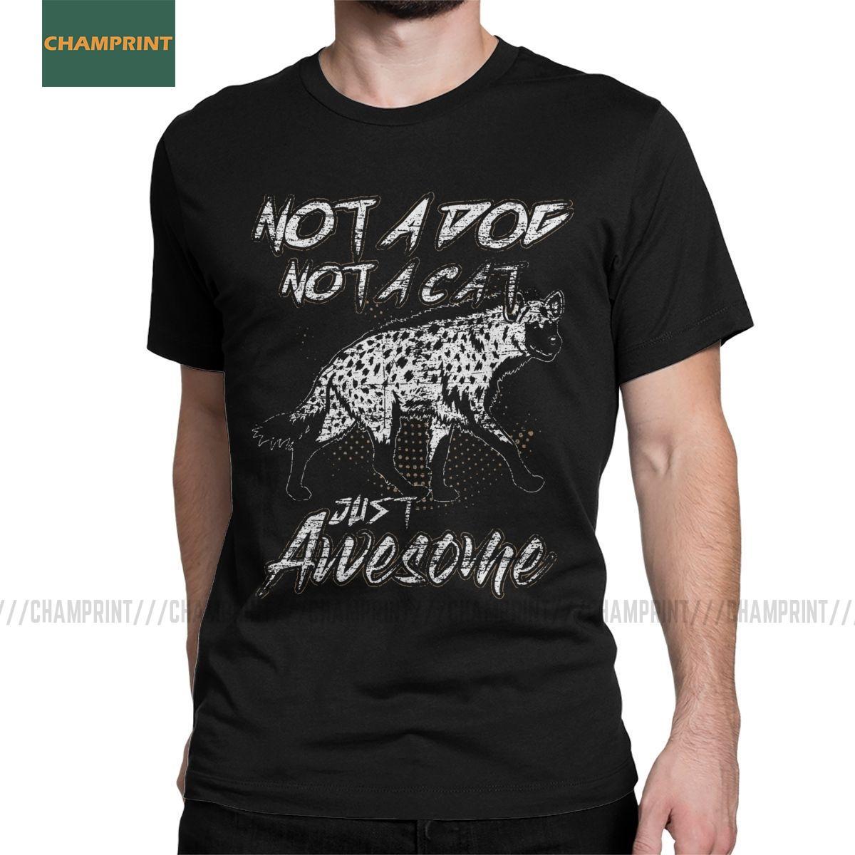 Manica corta Hyena Men T shirt Animal Africa Safari Wilderness Natura Furry Umorismo T O Collo T-shirt vestiti di cotone Graphic