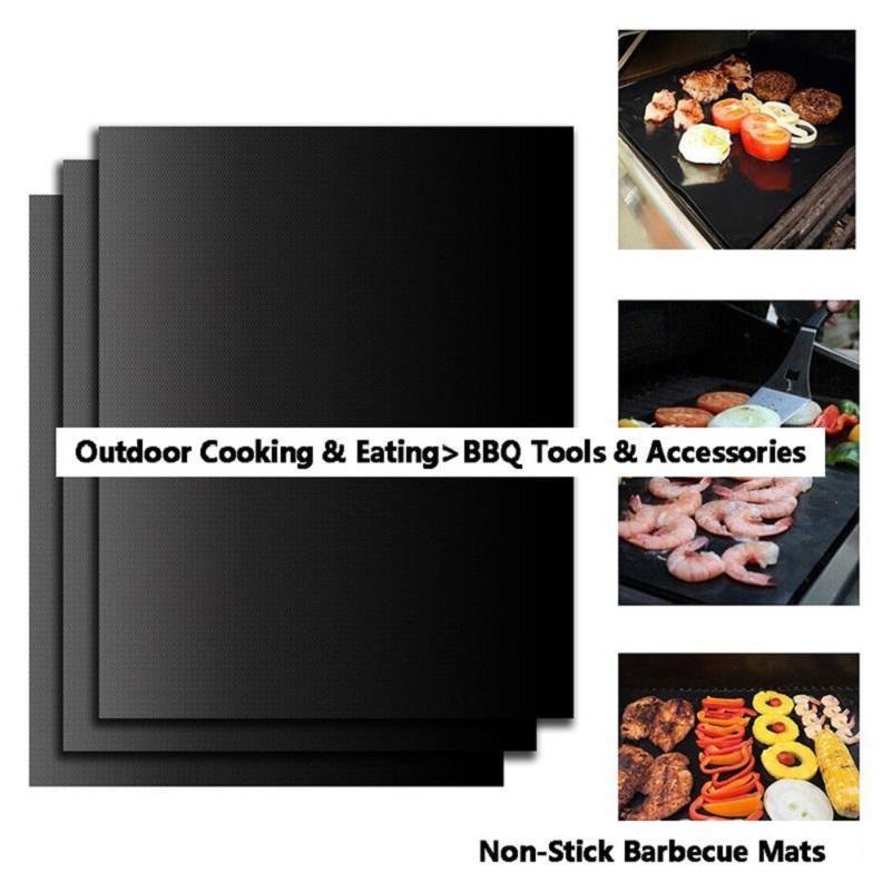 BBQ الشواية حصيرة دائم غير عصا شوى حصيرة 40 * 33CM صفائح الطبخ فرن الميكروويف في الهواء الطلق BBQ الطبخ أداة