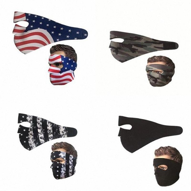 Radfahren Maske Staubdichtes Winddicht Atmungs Erwachsener Masken US-Flaggen-Camouflage-Gesichtsmasken Sport im Freien Skifahren Motorrad Maske 100pcs T1I tWZ2 #