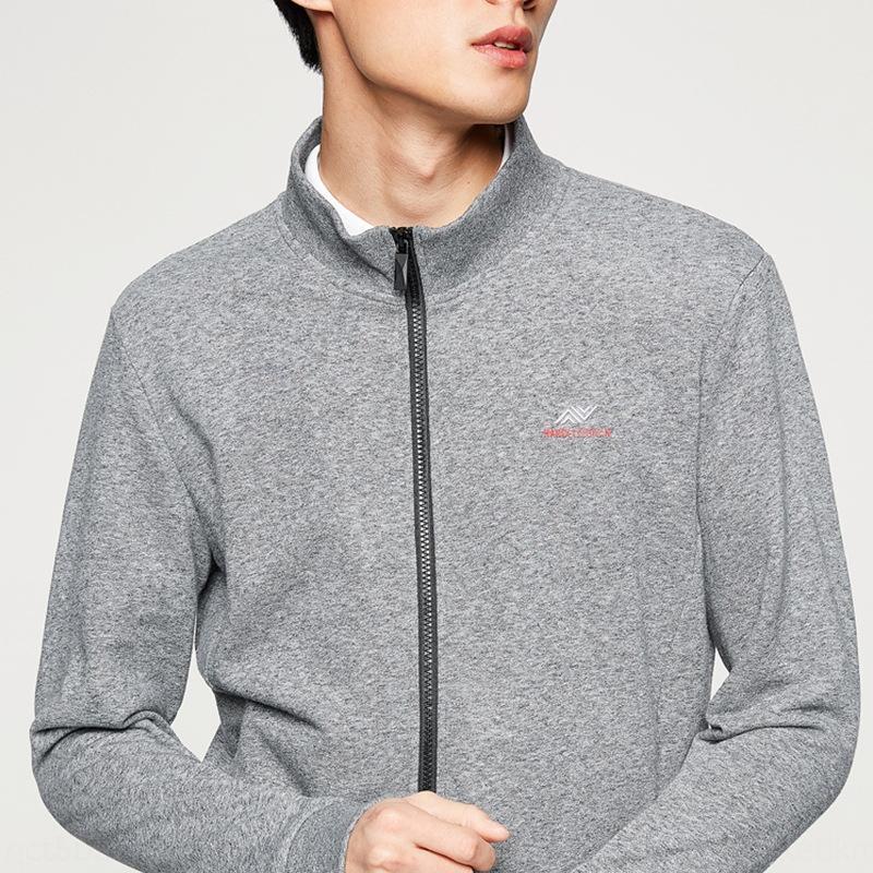 gris de letras impresas deportes de los hombres -Haijia -20 -20 -Haijia primavera primavera chaqueta gris letra impresa chaqueta deportiva de los hombres 6N7oy